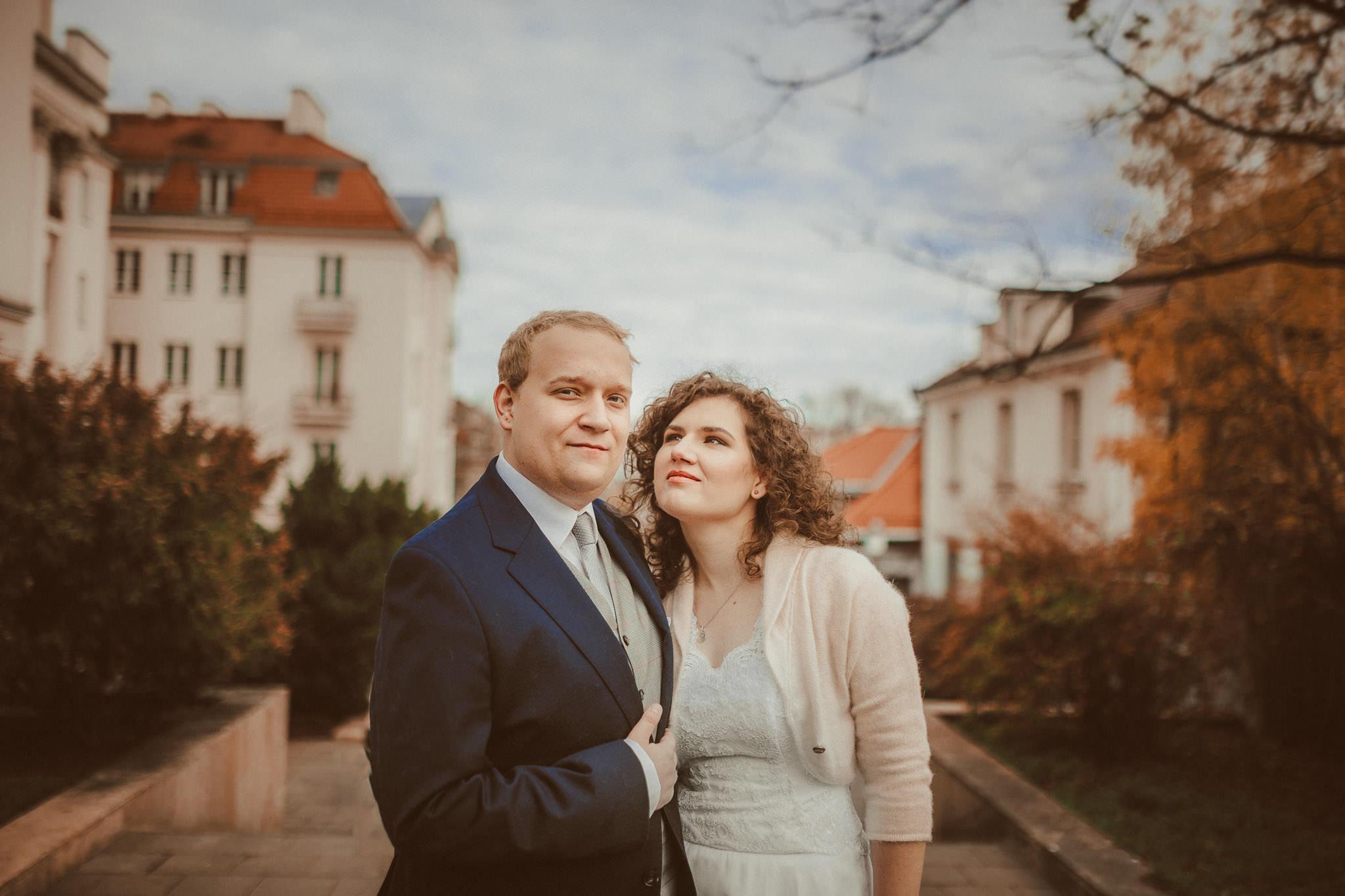 Joanna i Tomek – jesienny plener warszawski