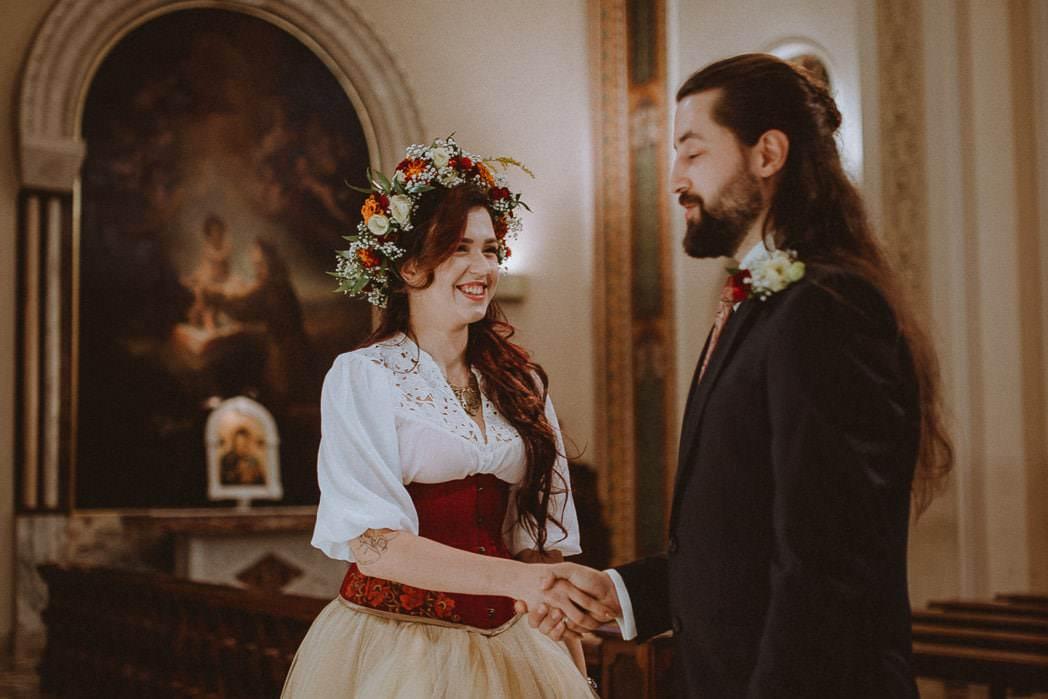 Ewa i Bartek, ślub słowiański, Art Impression House 56