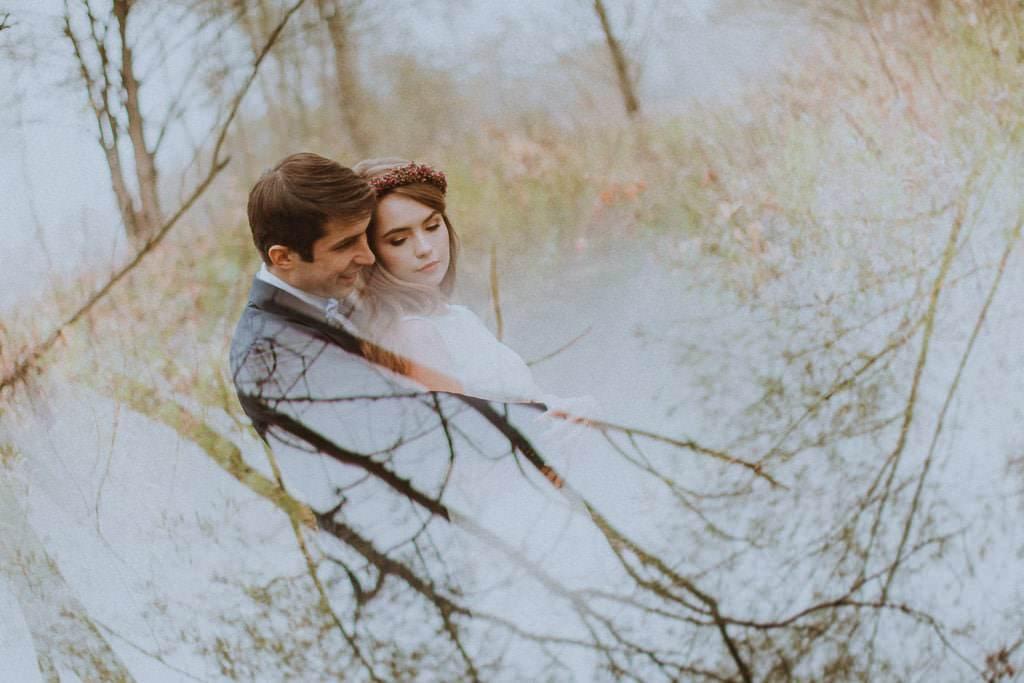 Paulina i Karol, plener jesienny w sukni Anna Kara i swetrze 3