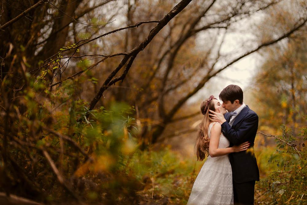 Paulina i Karol, romantyczny plener jesienny w sukni Anna Kara i swetrze 36