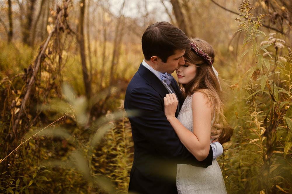 Paulina i Karol, romantyczny plener jesienny w sukni Anna Kara i swetrze 40