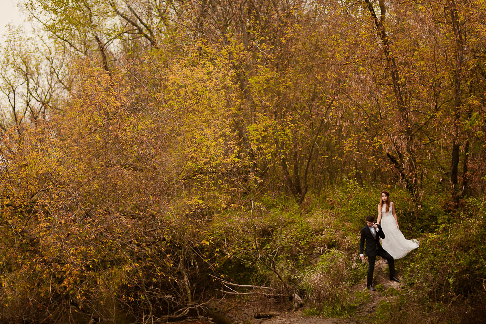 romantyczny plener jesienny