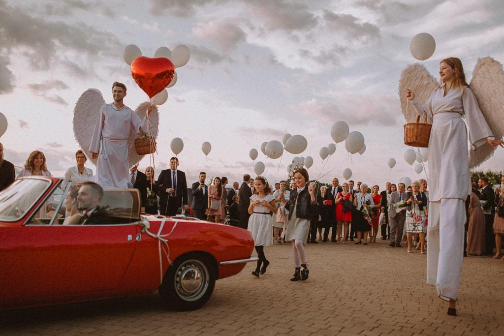 Marta i Tomasz - rustykalny ślub z aniołami, Kalisz 55