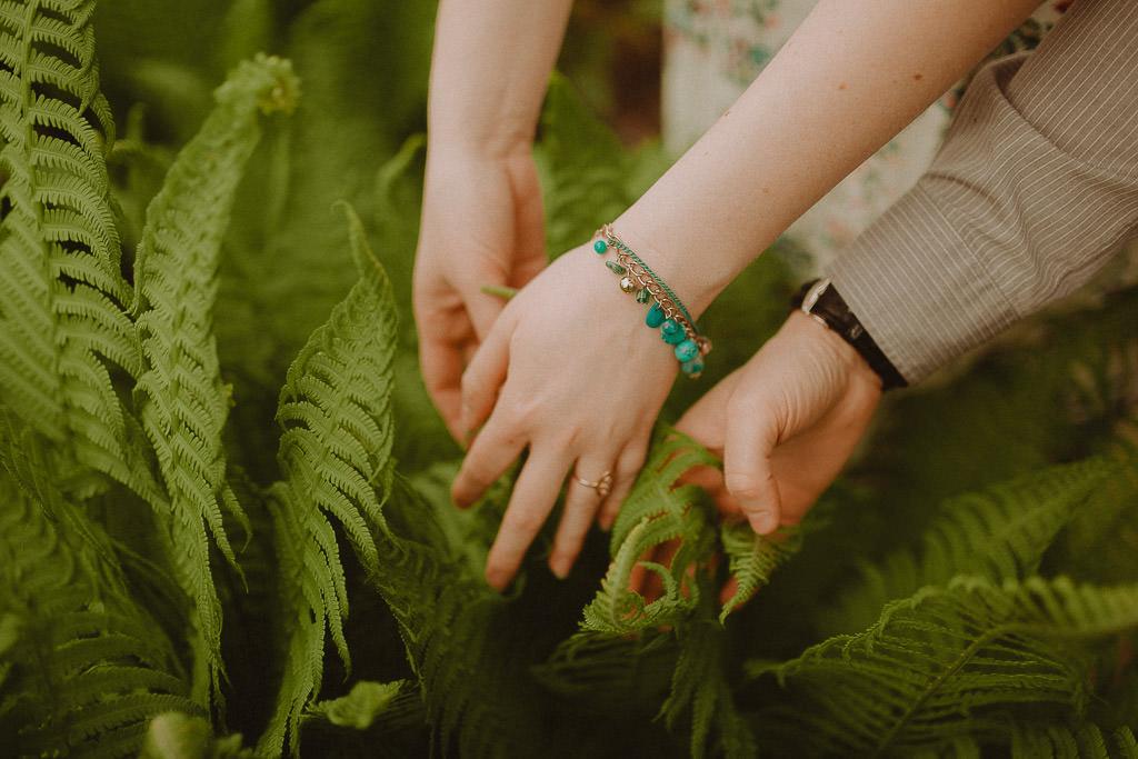 Miłosz i Natalia, sesja w sadzie, podwórzu i w wiejskiej chacie 62