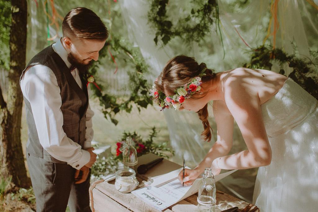 Natalia i Miłosz – plenerowy ślub humanistyczny, Młyn Kowalewko 40