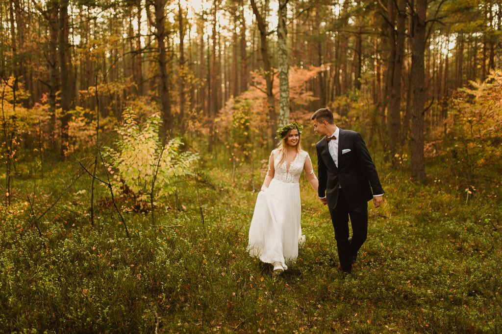 Angelika + Michał, plener jesienny, podwójna ekspozycja 1