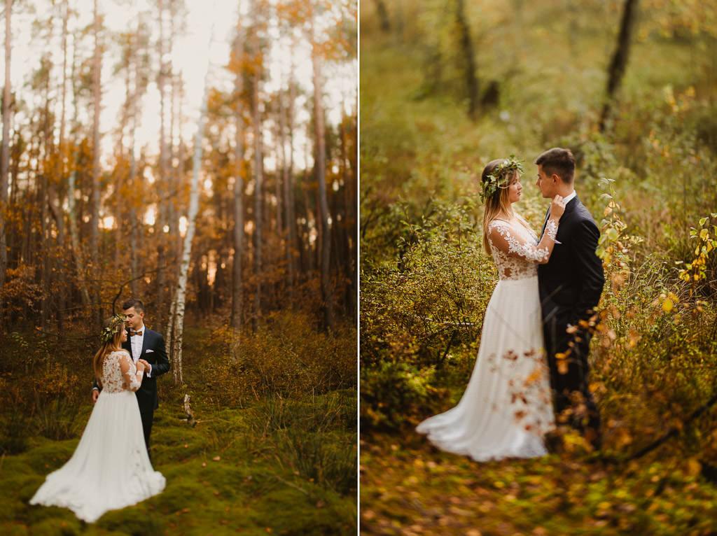 Angelika + Michał, plener jesienny, podwójna ekspozycja 37