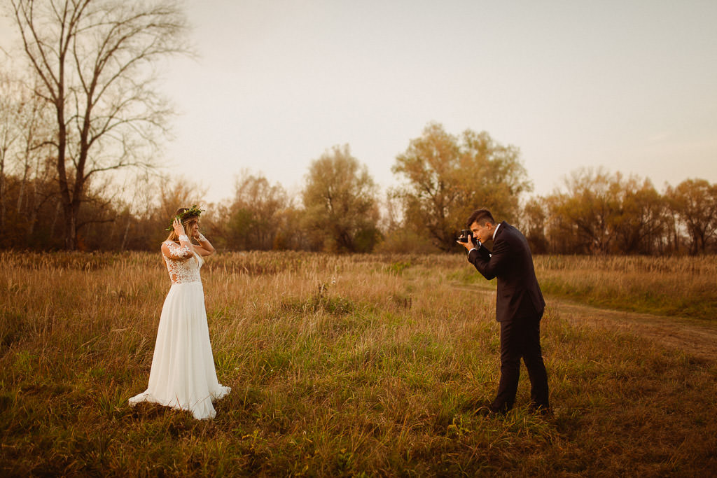 Angelika + Michał, plener jesienny, podwójna ekspozycja 40