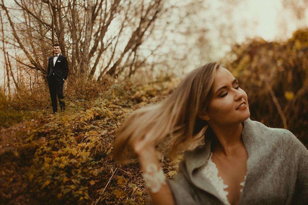 Angelika + Michał, plener jesienny, podwójna ekspozycja 45