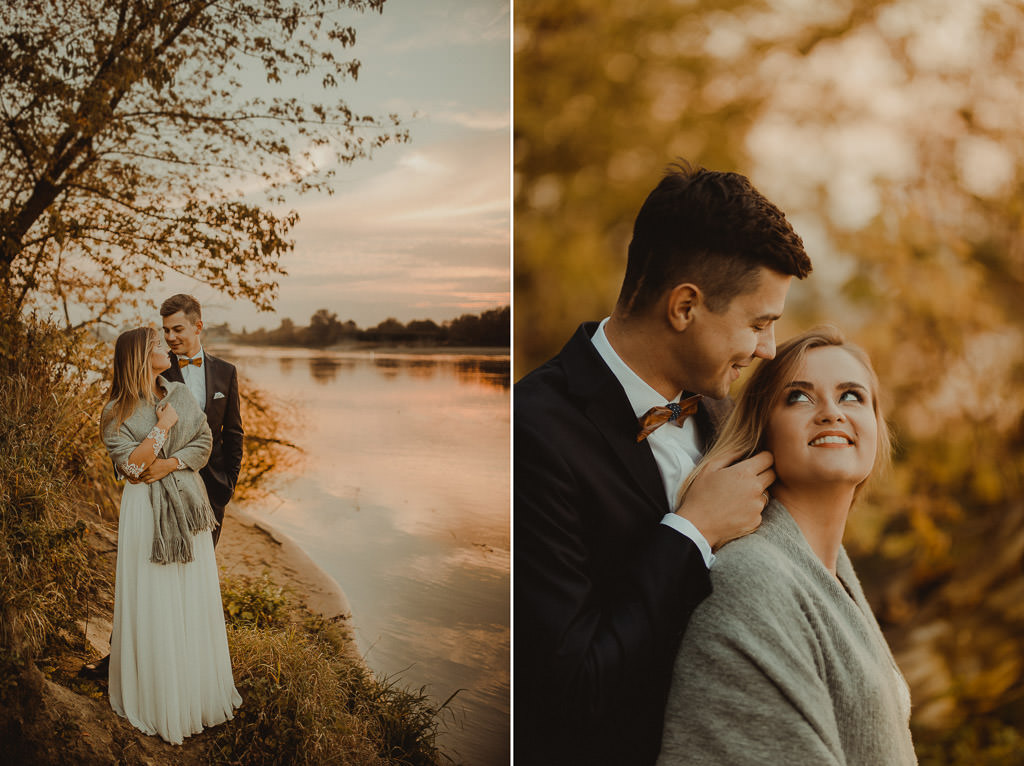 Angelika + Michał, plener jesienny, podwójna ekspozycja 19