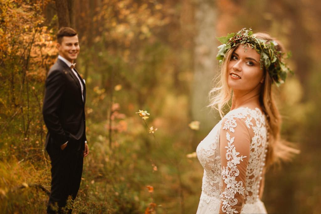 Angelika + Michał, plener jesienny, podwójna ekspozycja 30