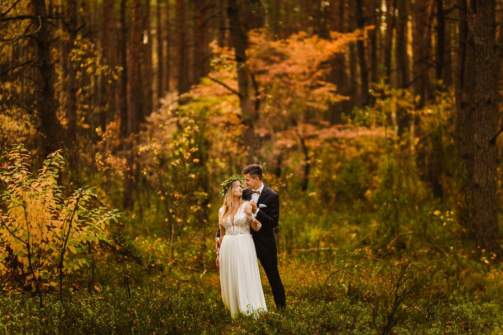 Angelika + Michał, plener jesienny, podwójna ekspozycja 4