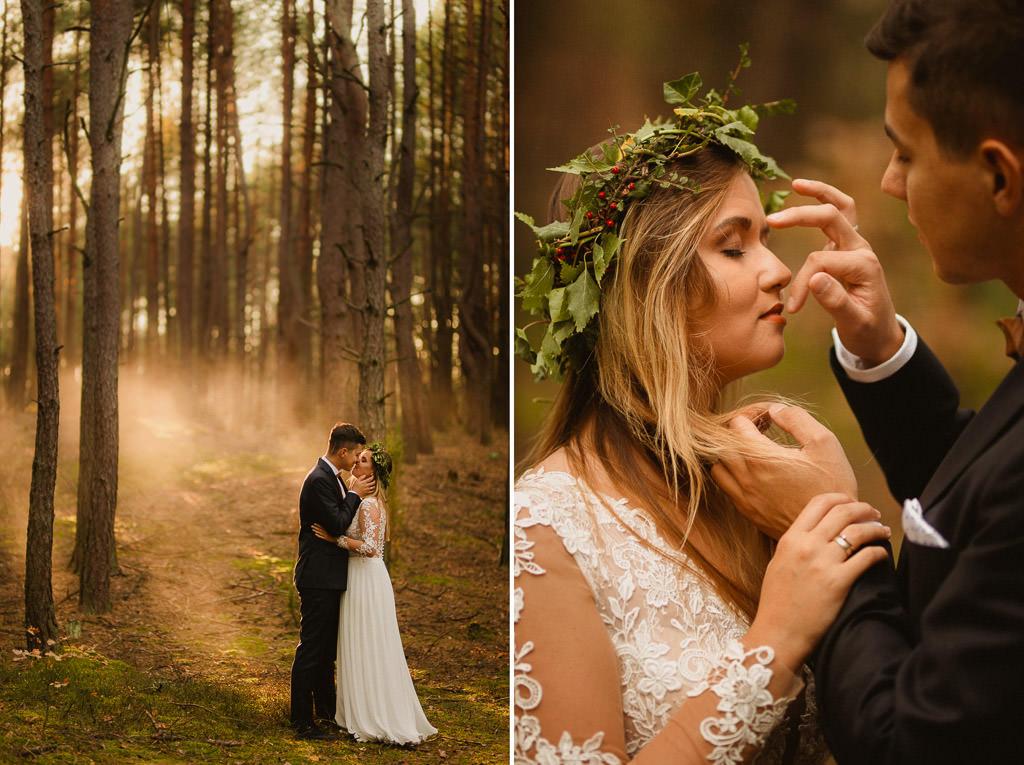 Angelika + Michał, plener jesienny, podwójna ekspozycja 35
