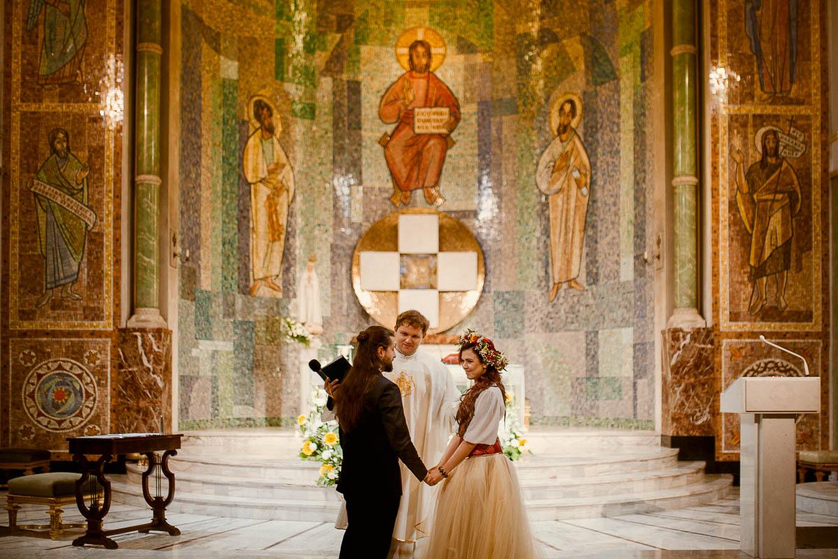 Ewa i Bartek, ślub słowiański, Art Impression House 35