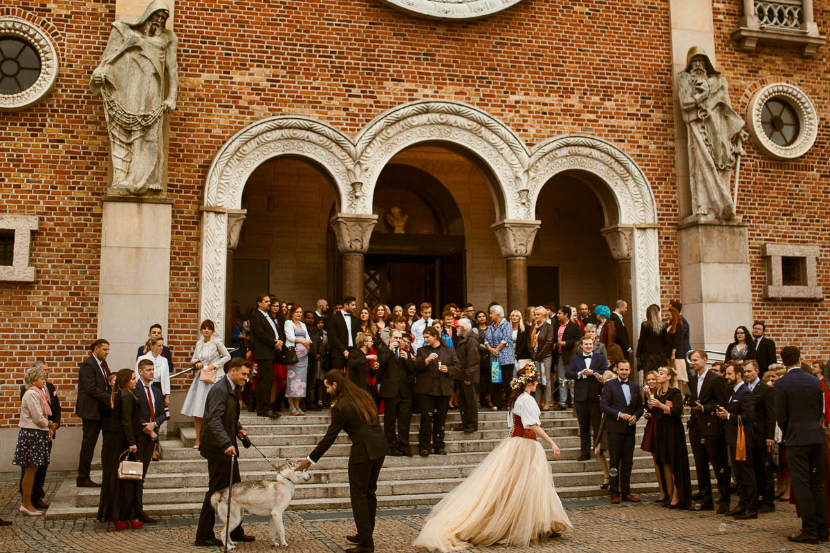 Ewa i Bartek, ślub słowiański, Art Impression House 132