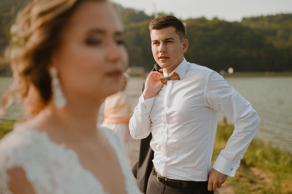 Michał + Angelika, rustykalny Ślub nad jeziorem 58