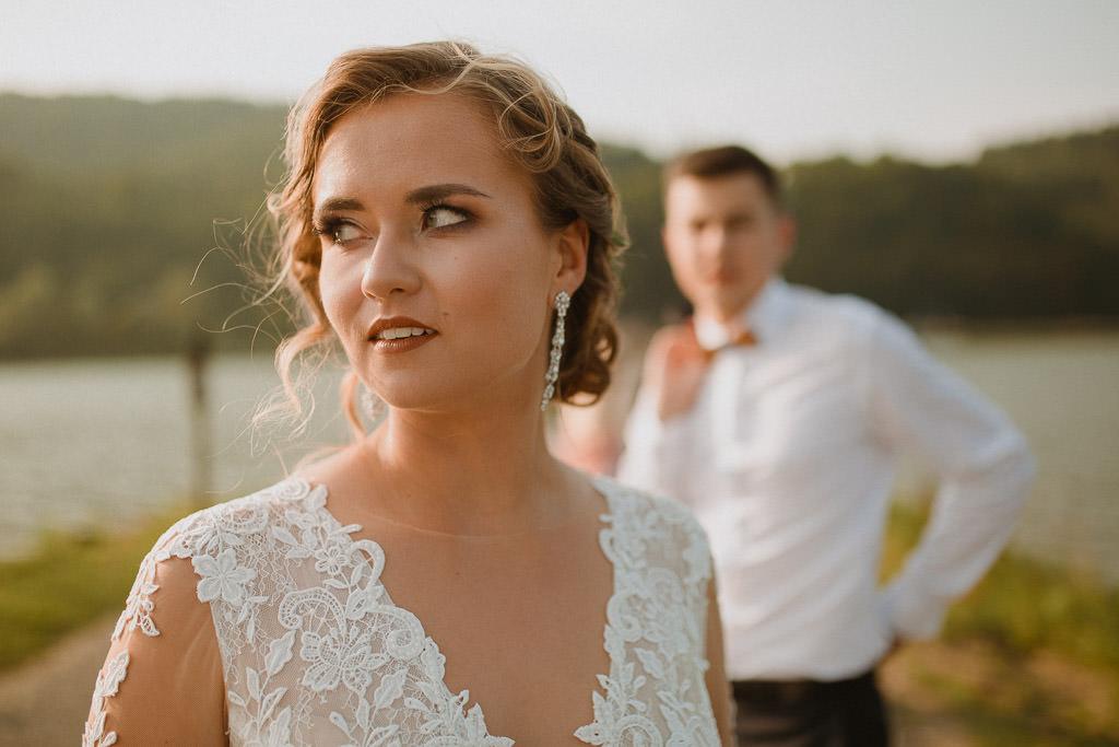 Michał + Angelika, rustykalny Ślub nad jeziorem 59