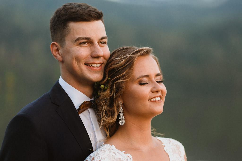 Michał + Angelika, rustykalny Ślub nad jeziorem 65
