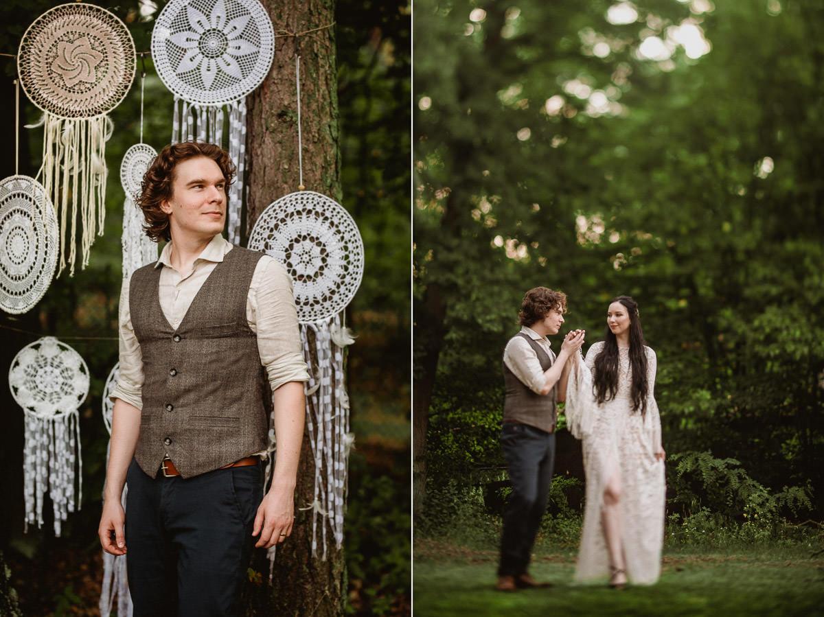 Ślub w klimacie fantasy – stylizowana sesja ślubna 49