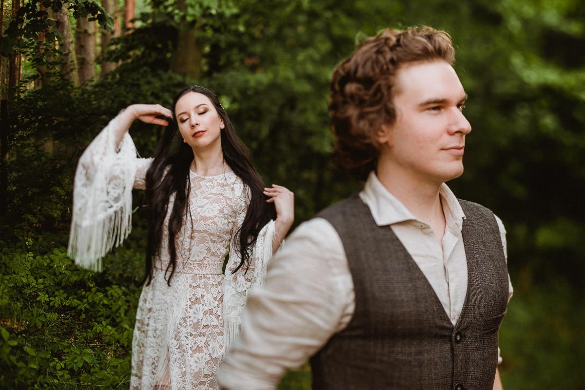 Ślub w klimacie fantasy – stylizowana sesja ślubna 38