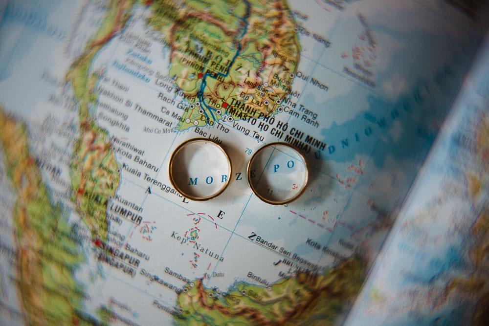 ślub z motywem podróży