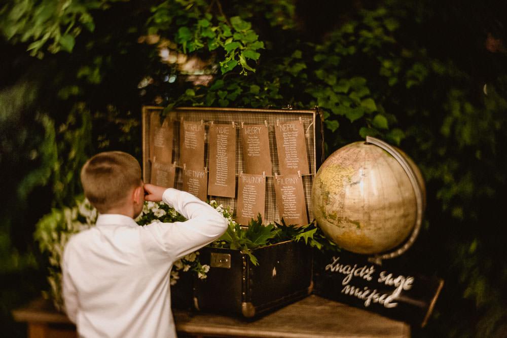 ślub z motywem podróży w stylu podrniczym
