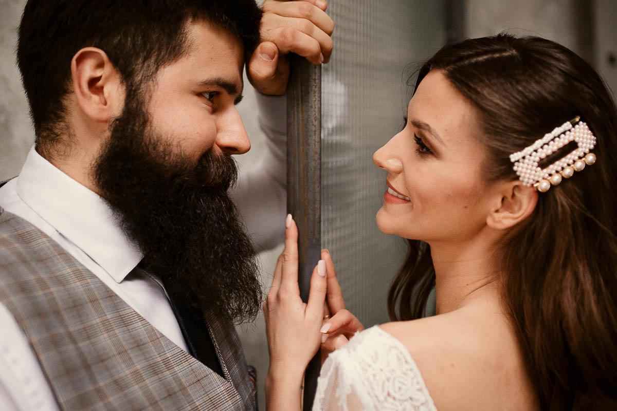 Sesja wesele industrialne + sale w stylu industrialnym w Warszawie 9