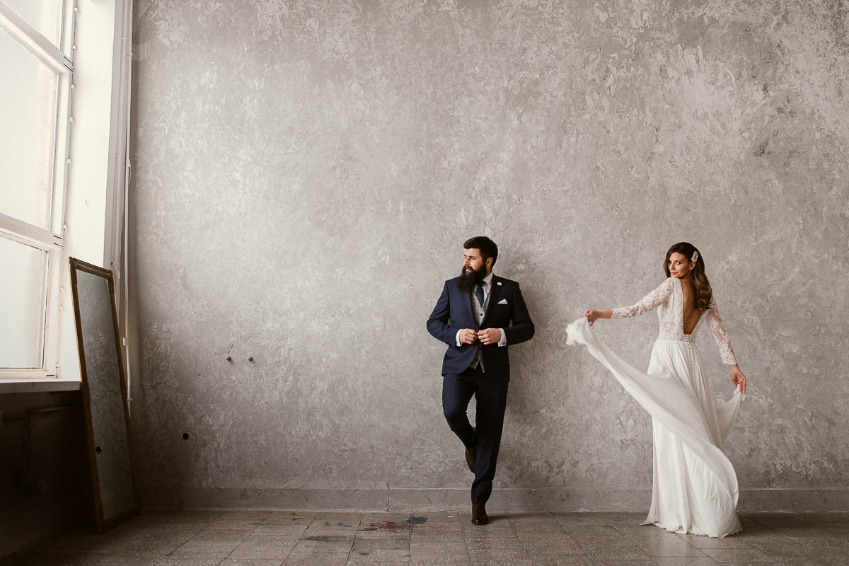 Sesja wesele industrialne + sale w stylu industrialnym w Warszawie 10